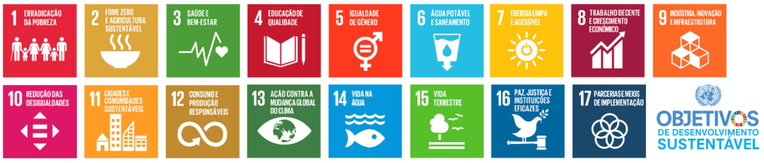 Imagem sobre 17 objetivos de Desenvolvimento Sustentável