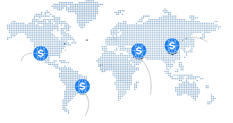 World map with StartSe logos in some countries that the company acts