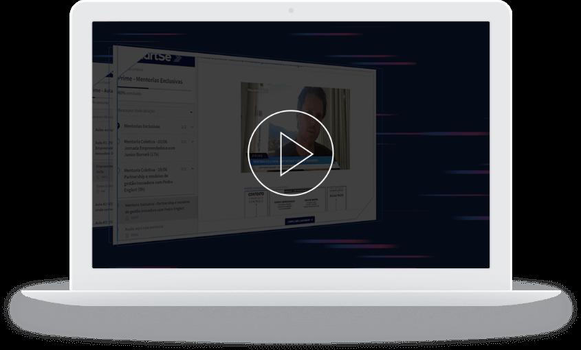 MacBook com conteúdo do PRIME na tela