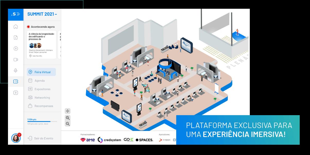 Plataforma exclusiva para uma experiência imersiva!