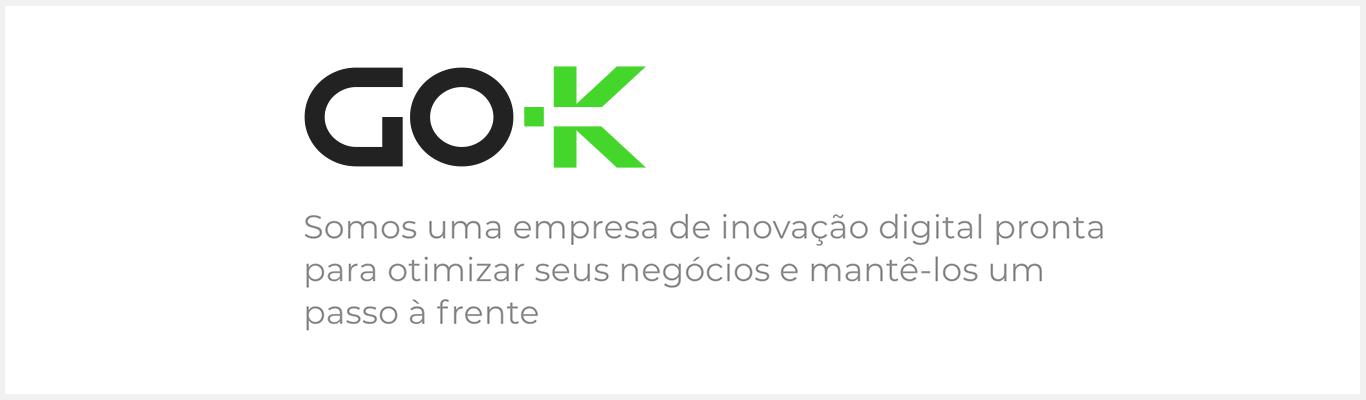Banner com logo da Go-K - Desktop